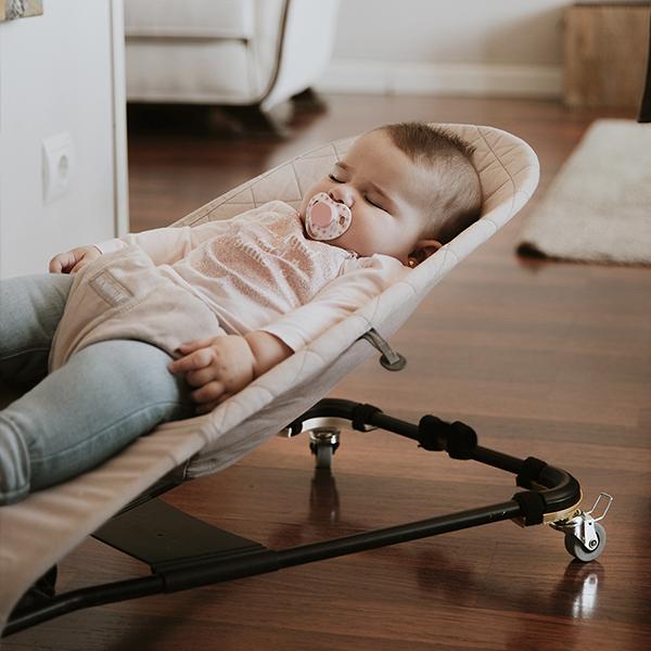 Hamaca para beb/é balac/ín Hamaquitas para beb/és con ruedas Ride/&Go Base Curva Ruedas para Hamaca Babybj/örn Ruedas para hamacas de beb/é